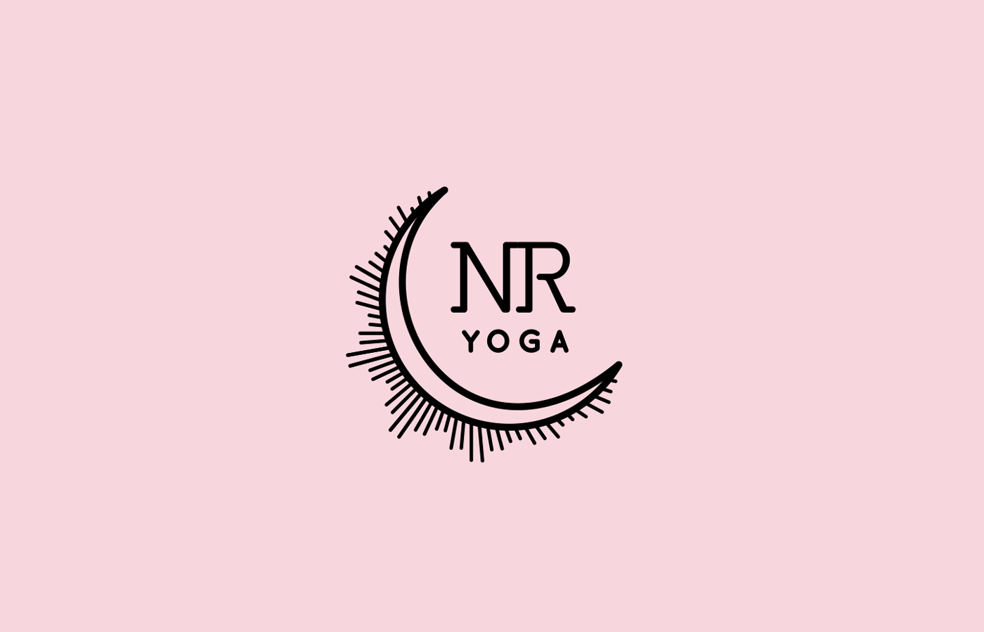 nuria reed yoga, logo, yoga teacher, santa barbara, california, pink, moon