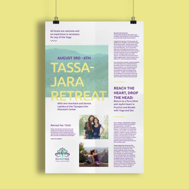 yoga studio, flyer design, promotional, poster design, santa barbara