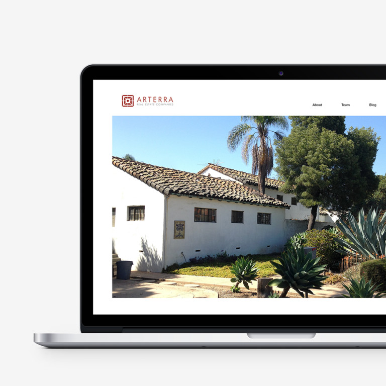 arterra real estate, responsive web design, website, mobile, tablet, desktop