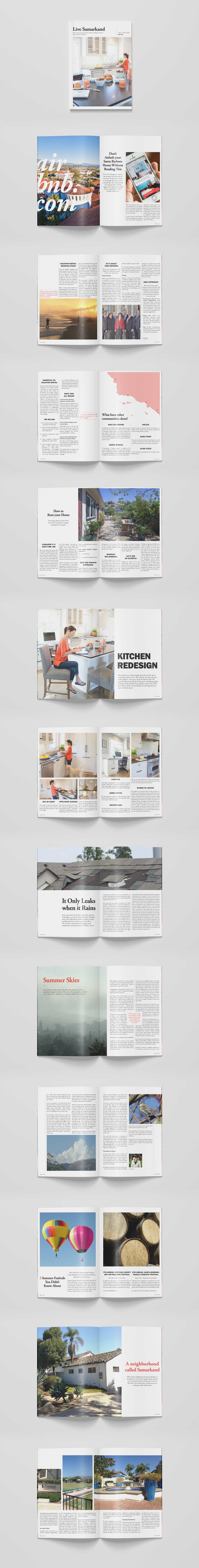magazine design, santa barbara, samarkand, arterra, residential, real estate